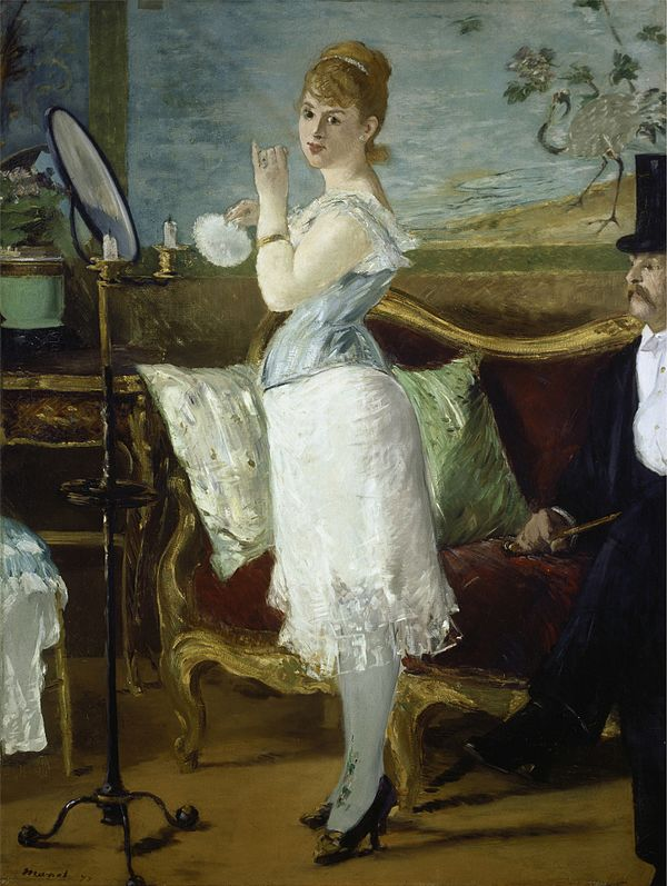 well-known p...A Bar At The Folies Bergere By Manet