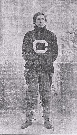 Edwin Sweetland - E. R. Sweetland in his Cornell letterman sweater c. 1898-99