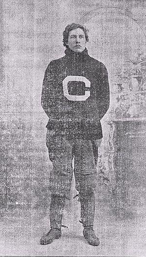 Edwin Sweetland - E. R. Sweetland in his Cornell letterman sweater c. 1898-99