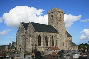 Quettehou - The church of Saint-Vigor