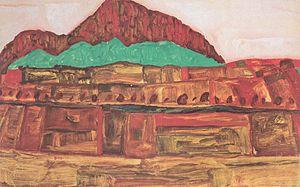 Egon Schiele - Berglandschaft - 1910