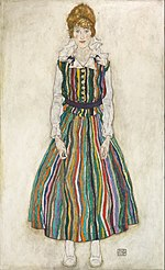 Egon Schiele - Portrait of Edith (the artist's wife) - Google Art Project.jpg