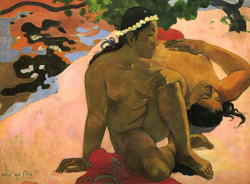 Eh quoi! Tu es jaloux? by Paul Gauguin