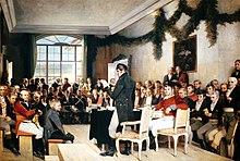 Dílo oscara wergelanda které znázorňuje 17 květen 1814