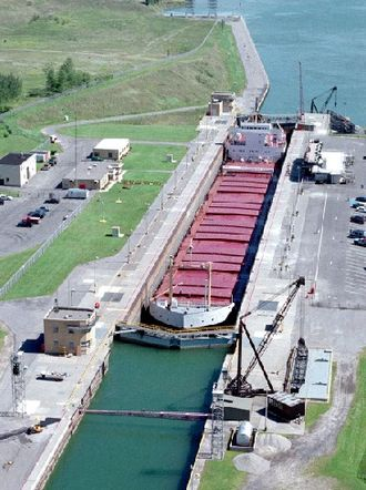 Saint Lawrence Seaway - The Eisenhower Locks in Massena, New York.