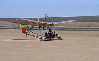 El Mirage Lake - Ultralight aircraft at El Mirage Dry Lake