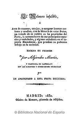 El melonero infalible 1830