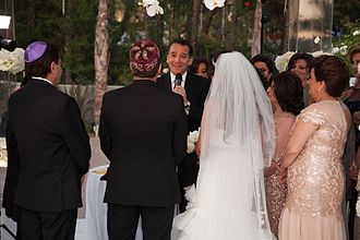 David Wolpe - Wolpe officiating at a wedding in Los Angeles.