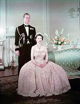 Elizabeth and Philip, 1950 Elizabeth II and Philip.jpg