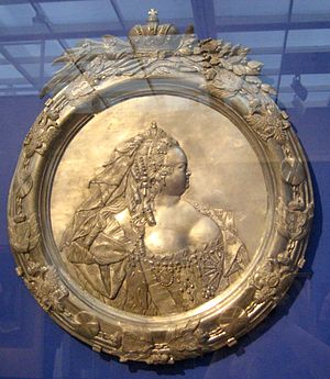 Carlo Bartolomeo Rastrelli - Elizabeth of Russia, gilded tin.