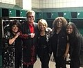 Elton John with his singers Tata Vega, Rose Stone, Jean Johnson Witherspoon, & Lisa Stone.jpg