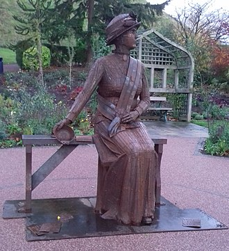Carlisle Park, Morpeth - A statue of Emily Wilding Davison to commemorate 100 years since women could vote