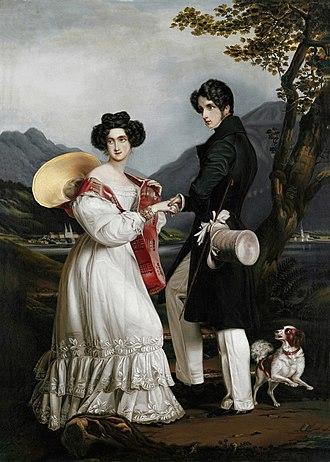 Princess Ludovika of Bavaria - Prinzessin Ludovika von Bayern und Herzog Max in Bayern, 1828