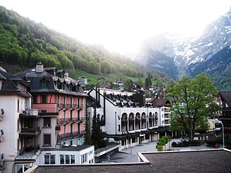 Engelberg - View of Engelberg from Hotel Ramada Balcony