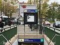 Entrée Station Métro Boulogne Pont St Cloud Boulogne Billancourt 5.jpg