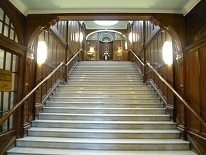 Craig House, Edinburgh - Stairway in the main hospital block