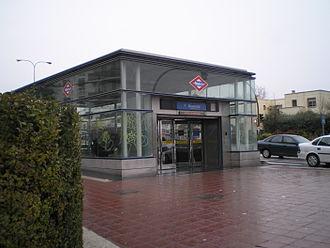 Baunatal (Madrid Metro) - Image: Estación de Baunatal