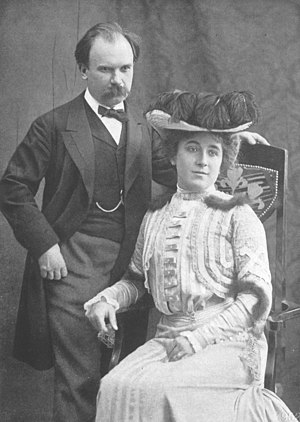 Eugen d'Albert - d'Albert and Hermine Finck in 1902