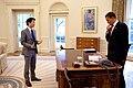 Eugene Kang and Barack Obama (10 June 2009).jpg