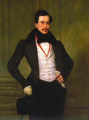 Eugène Devéria - Portrait of Antoine Julien Meffre-Rouzan by Eugène Devéria (1833).