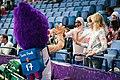 EuroBasket 2017 - Mascot Slam Dunk and fans.jpg