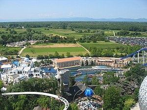 Europa-Park - Overview of the park, showing themed areas such as Griechenland.