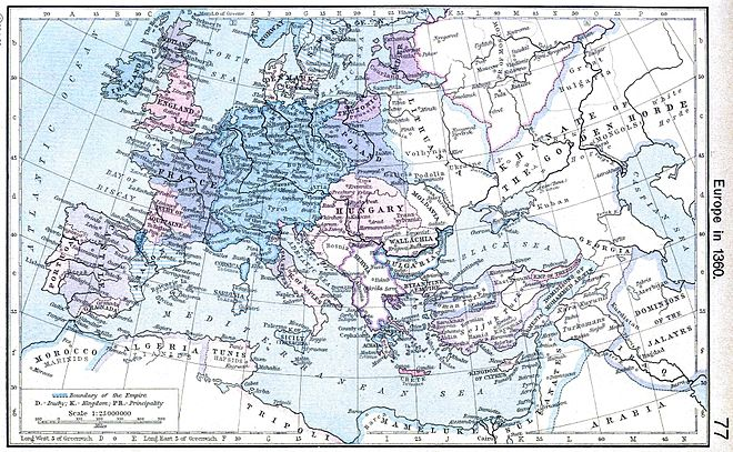 Map of Europe in 1360 Europe 1360.jpg
