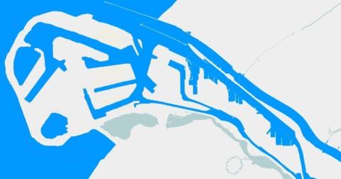 Carte du Port de Rotterdam Ouest