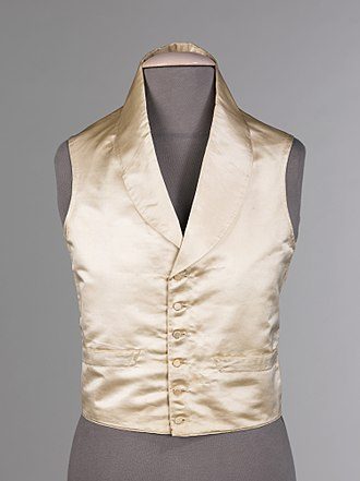 Vest - Circa 1830 Formal American Evening Vest: (Silk and Linen)
