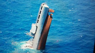 USS Niagara Falls (AFS-3) - Ex-Niagara Falls sinking on 14 July 2012