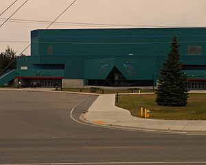 Carlson Center - Image: Exterior view of main entrance, Carlson Center, Fairbanks, Alaska