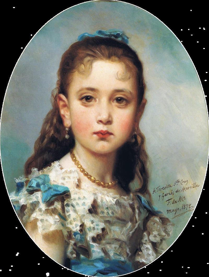 F. de Madrazo - 1878, La niña Teresa Santa Cruz y Garcés de Marcilla (Colección particular, Madrid, 47 x 36 cm).png