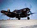 F4U-4 of VF-44 taking off from USS Boxer (CVA-21) 1953.jpeg