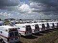 FEMA - 31663 - Ambulances staged in Texas for Hurricane Dean.jpg