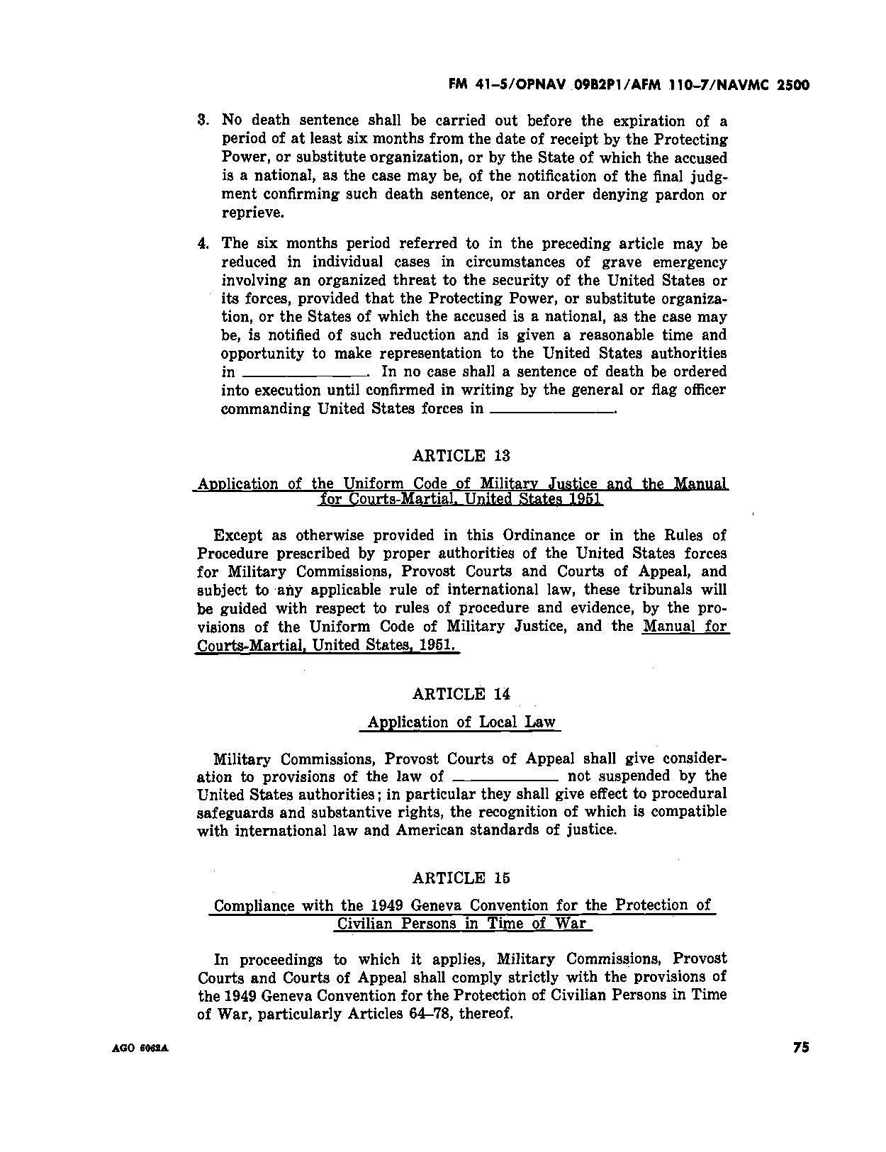 :FM 41-5 - OPNAV 09B2P1 - AFM 110-7 - NAVMC 2500 Joint Manual ...
