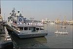 FOCWF proceeding by boat from Flagship INS Trishul.jpg
