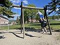 FRYAL SKOLE Søndre Land kommune, Norway. Barn leker husker sykler Parkering Søndre Land-hallen uteområde Sol (School Children Sunny ) 2021-06-02 IMG 2090.jpg