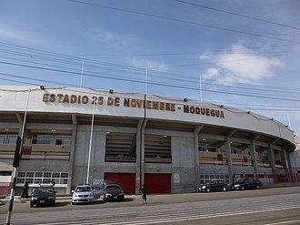 Estadio 25 de Noviembre - Image: Fachada estadio 25 de noviembre
