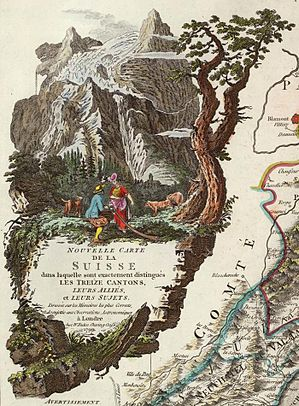 Faden, William — Map of Switzerland 1799 — Detail cartouche.jpg