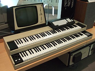 Manual (music) - A 1970s-era Fairlight synthesizer with two manuals.