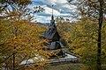 Fantoft Stavkirke stavechurch bergen autumn tunliweb.jpg