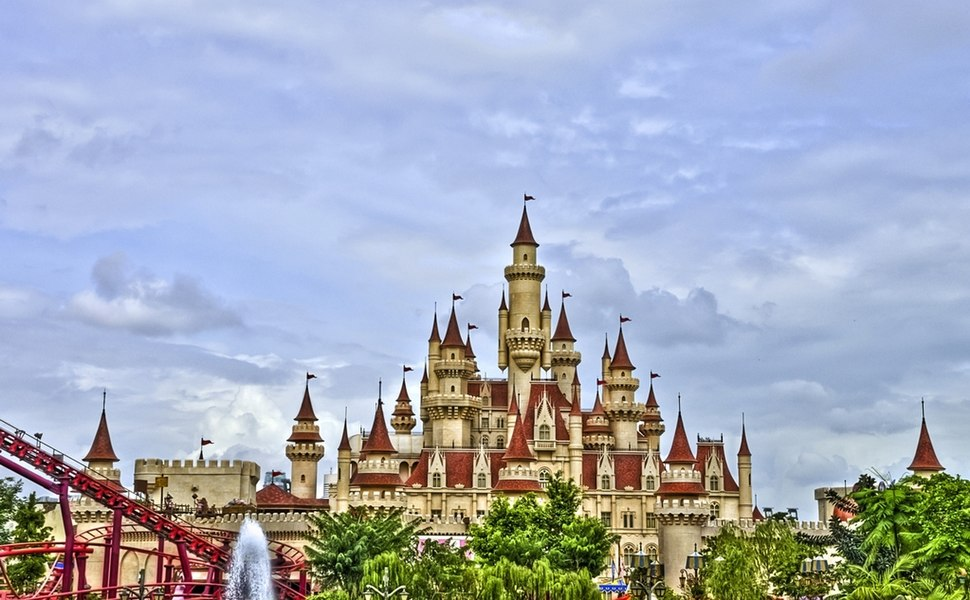 Far Far Away Castle at Universal Studios Singapore by Schristia