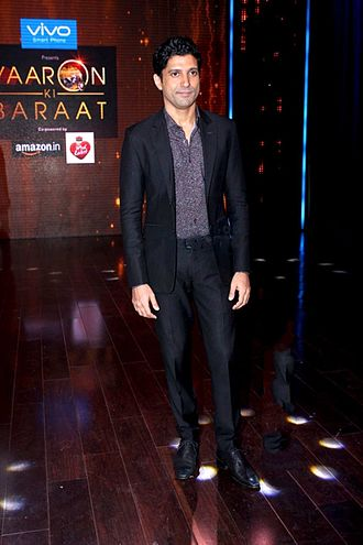 Farhan Akhtar - Akhtar promoting Rock On 2 at Yaaron Ki Baraat, 2016