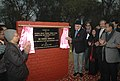 Farooq Abdullah unveiling the plaque to lay the foundation stone of National Solar Thermal Power Testing Simulation and Research Facility, at the campus of the Solar Energy Center in Gurgaon, Haryana on January 10, 2010.jpg