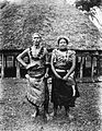 Faumuina, an important Chief of the Faleata district near Apia, and his wife, photographed, probably in the 1890s, by Alfred John Tattersall.jpg