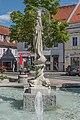 Feldkirchen Hauptplatz Nymphenbrunnen SO-Ansicht 28062016 2982.jpg