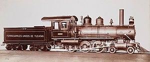 Ferrocarriles Unidos de Yucatán - A typical Baldwin 4-6-0 of the railway.