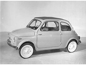Economy of Italy - The Fiat 500, launched in 1957, is considered a symbol of Italy's postwar economic miracle.