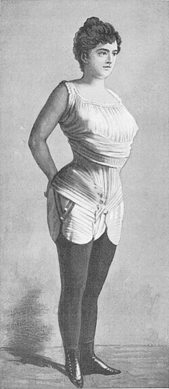Victorian dress reform - Gaches-Sarraute in her (not fashionable) reform corset from about 1892. It was in fashion from 1900 to 1913, but only after many years of hard work.