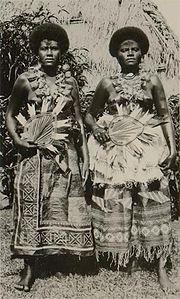 Donne Fijiane dei tempi antichi